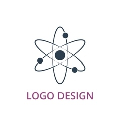 An atom logo vector