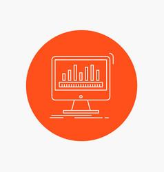Analytics processing dashboard data stats white vector