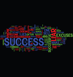 are you a success liar text background word cloud vector image