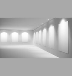 art gallery empty exhibition hall interior vector image