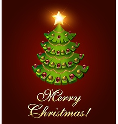 background postcard Christmas with a tree vector image