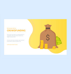 bank or investment project crowdfunding vector image