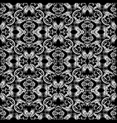 baroque seamless pattern black and white vintage vector image