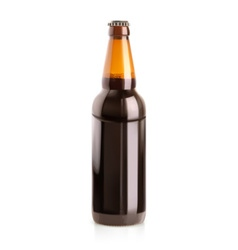 Beer in a bottle object vector