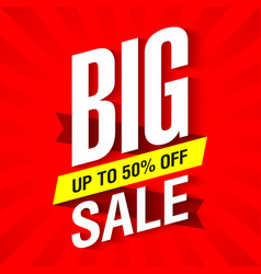 big sale banner design template up to 50 off vector image