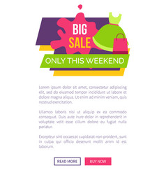 big sale for female clothes of premium quality vector image