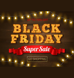 black friday realistic background vector image