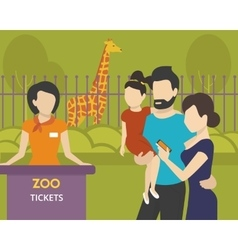 Booking tickets to zoo vector