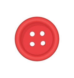 Button for clothing icon cartoon style vector