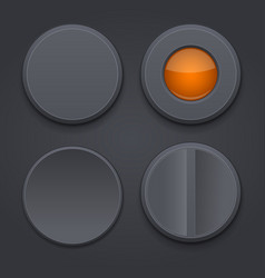 buttons black interface icons vector image