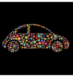 car shape vector image vector image