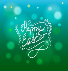 Card with Happy Easter lettering-2 vector image