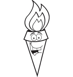 Cartoon smiling torch vector