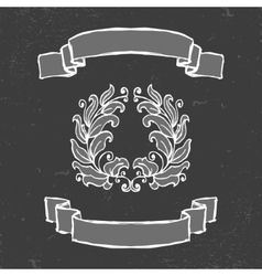 Chalkboard Style Ribbons vector