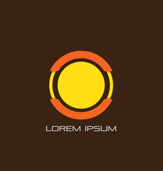 circle line techology business logo vector image