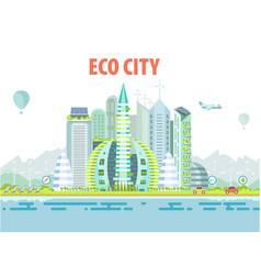cityscape eco-friendly housing complex and green vector image