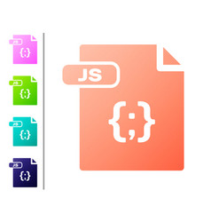Coral js file document download js button icon vector