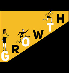 creative word concept growth and people doing vector image