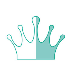 crown royalty symbol vector image