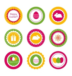 Cupcake toppers for Easter vector