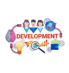 development effective planning strategy business vector image