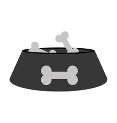 Dish food mascot isolated icon vector