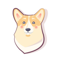 dog emoticon shy puppy icon vector image