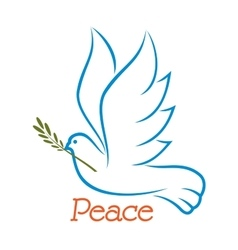 Dove of peace with olive branch vector