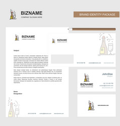 drinks business letterhead envelope and visiting vector image
