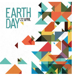 Earth day 22 april holiday poster abstract vector
