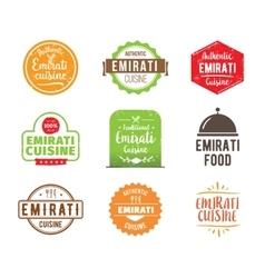 Emirati cuisine label vector