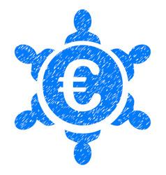 Euro collaboration grunge icon vector