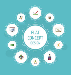 flat icons support discussion design and other vector image vector image