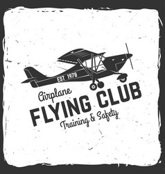 Flying club retro badge vector