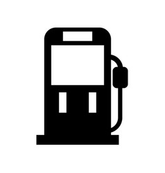 gasoline fuel pump filling station equipment icon vector image