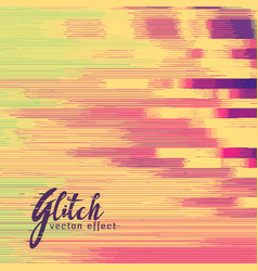 Glitch effect in retro colors vector