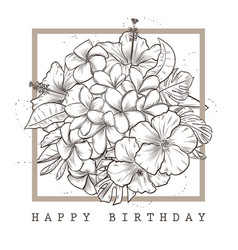 greeting card with happy birthday vector image