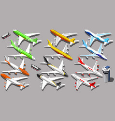 Isometric aeroplane 3d aircraft plane vector