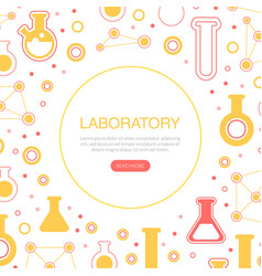 Laboratory landing page template pharmacy vector