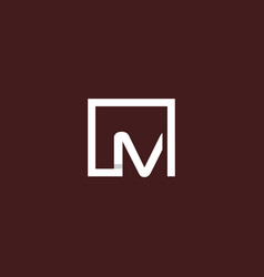 letter m square frame creative modern logo vector image