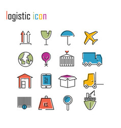 Line icons logistics icons modern infographic logo vector