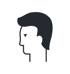 Male head silhouette profile icon vector