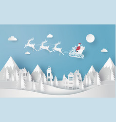 merry christmas and happy new year santa vector image