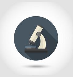 Microscope flat icon vector image