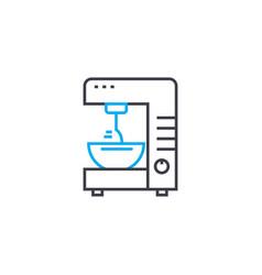 mixer linear icon concept mixer line sign vector image