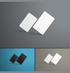 mockup of two gift or bank cards in the vector image