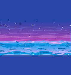 moon landscape game background vector image