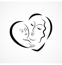 Motherhood icon vector