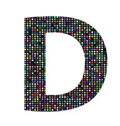 Multicolor letter D vector