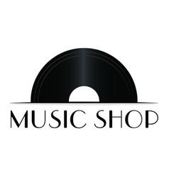 music shop label vector image